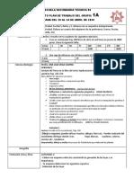 Formato Plan de Trabajo Semanal Est98 1 Cuarentena 20 Al 24 de Abril