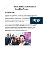 Business Social Media Communication Consulting Project