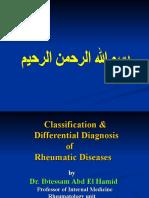 Classification of Rheumatic Diseases