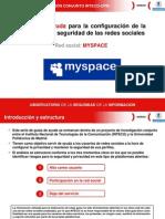 Guia Inteco Myspace para la configuración de la privacidad y seguridad