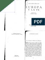 Europa y La Fe - Hilaire Belloc
