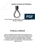 Violence Against Women in Pakistan