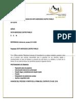 INFORME ACTUAL DE PROCESO DE IVETH MERCEDES CASTRO PAREJO