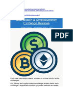 Best Bitcoin & Cryptocurrency Exchange Reviews 2019