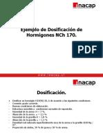 EJEMPLO N°2 DOSIFICASION NCh 170