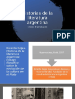 Historias de la literatura argentina