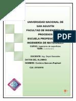 Cuestionario introductorio ingeniería de superficies