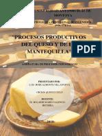 Proceso de Obtención del Queso y de la Mantequilla