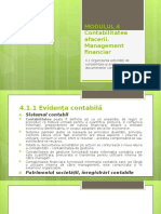 MODUL 4_Contabilitatea afacerii        Management financiar