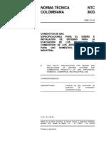 xNTC 3833-1995 CONDUCTOS DE GAS