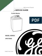 31-9103 GE Profile Washer Service Manual