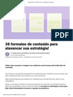 38 formatos de conteúdo para sua estratégia de marketing