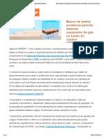 Agência FAPESP | Banco de dados acústicos permite detectar vazamento de gás no fundo do oceano
