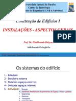 INSTALAÇÕES ASPECTOS GERAIS 2016.1
