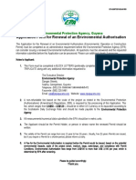 Application Form for Renewal of Environmental Authorisation