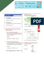 Adición-y-Sustracción-de-Fracciones-y-Decimales-para-Cuarto-de-Primaria