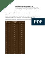 Analisis Regresi Linier Sederhana Dengan Menggunakan