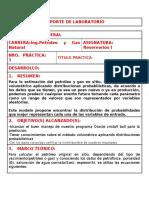 REPORTE DE LABORATORIO
