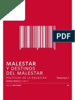 Radiszcz E (ed) (2016) Malestar y destinos del malestar. Políticas de la desdicha. Santiago