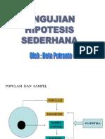 STATISTIKA  (PENGUJIAN  HIPOTESIS)