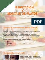 presentacion montaje de platos
