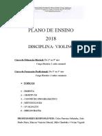 PLANO DE ENSINO VIOLINO 2018