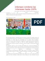 Ley de Perdonazo condona las multas e intereses hasta 100