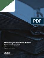 Seminarios_Maestria & Doctorado en Historia - UNTREF