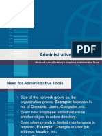 Chapter 3 - Active Directory Administrative Tools (Presentation)