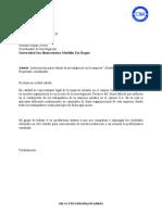 Carta de Autorizacion de proyecto