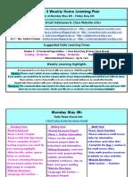may 4 - may 8 - grade 3 weekly home learning plan