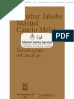 Gunther Jakobs Derecho Penal Del Enemigo