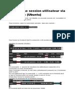 Fermer une session utilisateur via la console (Ubuntu)
