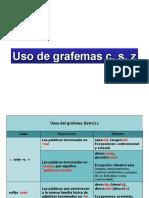 1. Reglas grafemas c, s, z y Palabras Homógrafas (1)