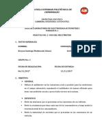 PRÁCTICA NO. 2- USO DEL MULTÍMETRO