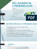 TEORÍA ELEMENTAL DE LA PROBABILIDAD