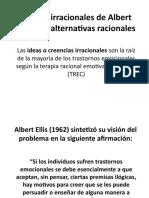 12 Ideas irracionales de Albert Ellis y sus