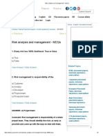 Risk analysis and management - MCQs1.pdf