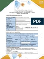 Guía de actividades y rúbrica de evaluación - Paso 4 - Aplicar una entrevista