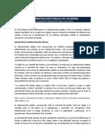 articulo administración publica en Colombia