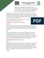 Las Habilidades o Competencias Comunicativas se entienden como un conjunto de procesos lingüísticos que se desarrollan durante la vida.docx