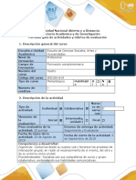 Guía de actividades y rubrica de evaluación -Fase 1-Reconocimiento del Curso