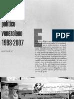 El proceso politico Venezoelano, 1998/2007. Arturo Sosa Abascal