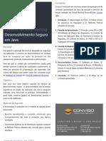 Conviso Security Training - Segurança para Desenvolvimento em Java