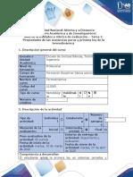 Guía de actividades y rúbrica de evaluación - Tarea 2 - Cálculo de propiedades de la