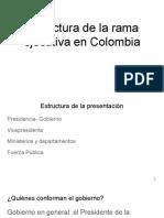1. Estructura de la rama ejecutiva en Colombia