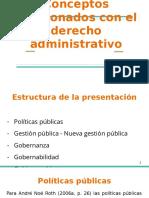 3. Conceptos relacionados con el derecho administrativo
