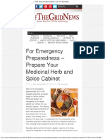 For Emergency Preparedness – Prepare Your Medicinal Herb and Spice Cabinet _