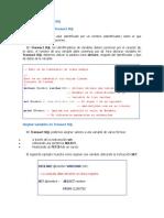 Variables y Estructuras de Control en Transact SQL
