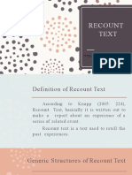 RECOUNT TEXT PPT HMM